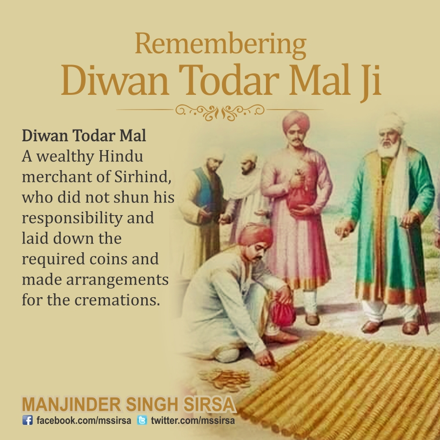 Paying tribute to Diwan Todar Mal
